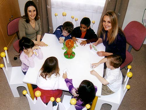 Group speech therapy sessions